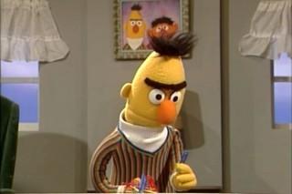 36e99f08b87 Het forse salaris van Bert zou zorgen voor wrijving bij de overige  Sesamstraat-beroemdheden.