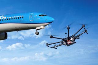 weer-drone-gehinderd-door-vliegtuig-bij-Schiphol